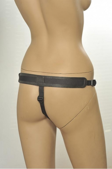 Кожаные трусики с плугом Kanikule Leather Strap-on Harness Anatomic Thong - 3