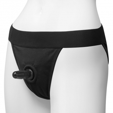 Трусики с плугом Vac-U-Lock Panty Harness with Plug Full Back - L/XL - 1
